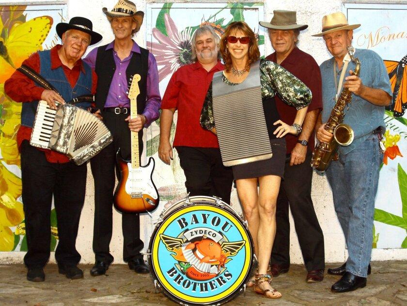 The Bayou Brothers will perform at Balboa Park and Chula Vista's Memorial Park.