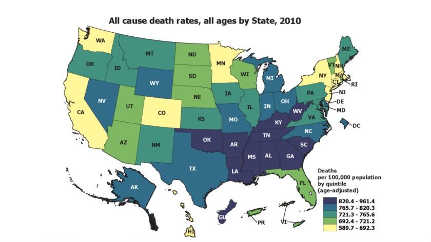 Death rates, US