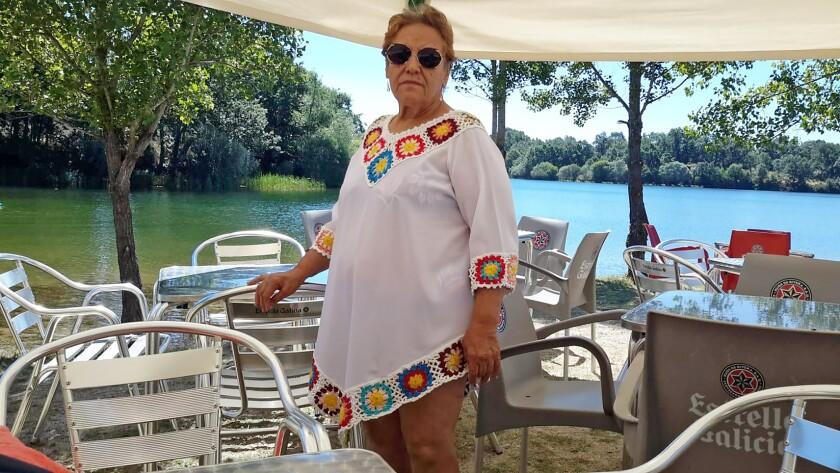 Gloria Delgado at the reservoir in Valparaiso, Spain