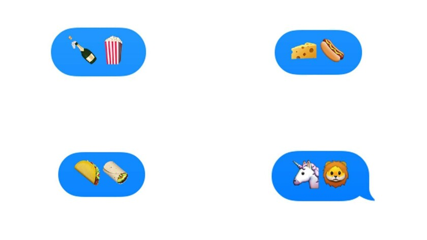 A few of the new emojis included in the Apple iOS 9.1 update.