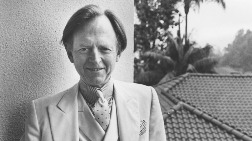 Tom Wolfe photgraphed at the Beverly Hills Hotel on Nov. 13, 1987.