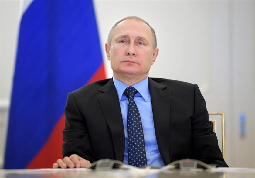 El presidente ruso, Vladímir Putin, durante una conferencia de prensa. EFE/Alexei Druzhinin-Sputnik-Kremlin/POOL