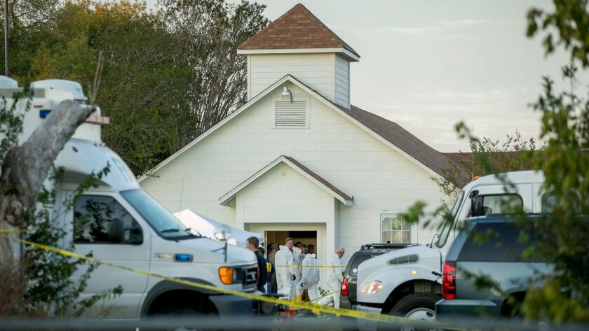 Officials investigate a mass shooting Sunday at the First Baptist Church in Sutherland Springs, Texas, that left 26 people dead. New research shows that gun injuries in the U.S. have become increasingly severe over more than two decades.