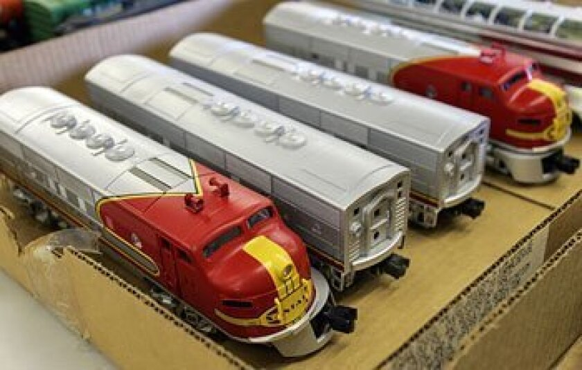 A collection of Lionel trains — worth at least $20,000 —  that 