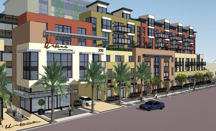 The Urbana complex in Chula Vista will have 135 apartments and is set to open in April 2020.