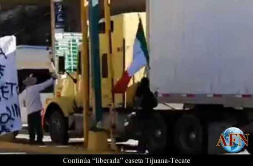 Vuelven a liberar la caseta Tijuana-Tecate