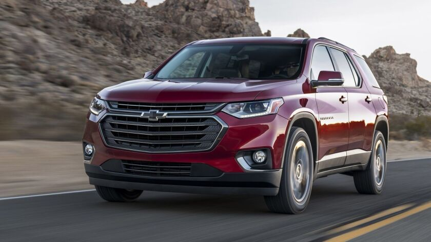 The seven-passenger Chevy Traverse RS starts at a well-equipped MSRP of $43,045, including the $995 freight charge from Lansing, Mich.