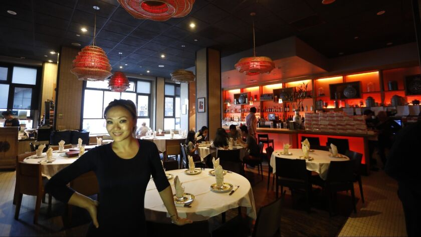 SAN FRANCISCO, CA - JUNE 25, 2019 - Chef Kathy Fang, 37, co-owner of Fang restaurant, stands inside