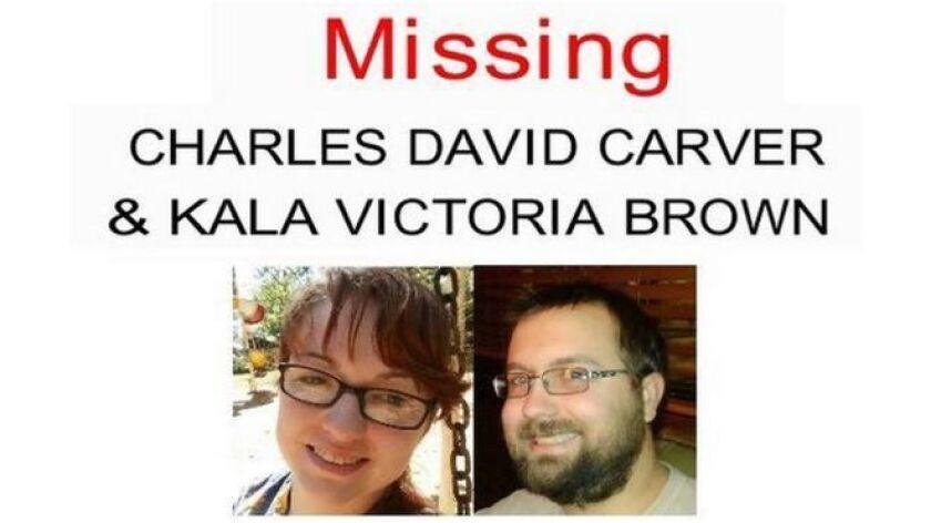 Tras la desaparición de la pareja, alguien empezó a usar la cuenta de Facebook de Charlie Carver y hasta compartió el cartel policial de búsqueda.