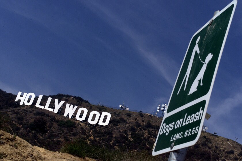 Several hiking trails take you up by the Hollywood sign.
