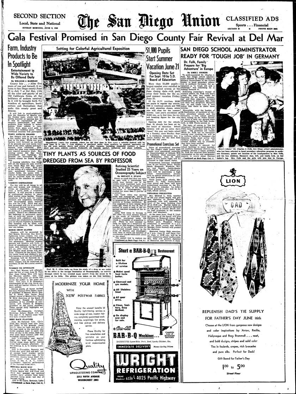 June 21, 1946 San Diego County Fair