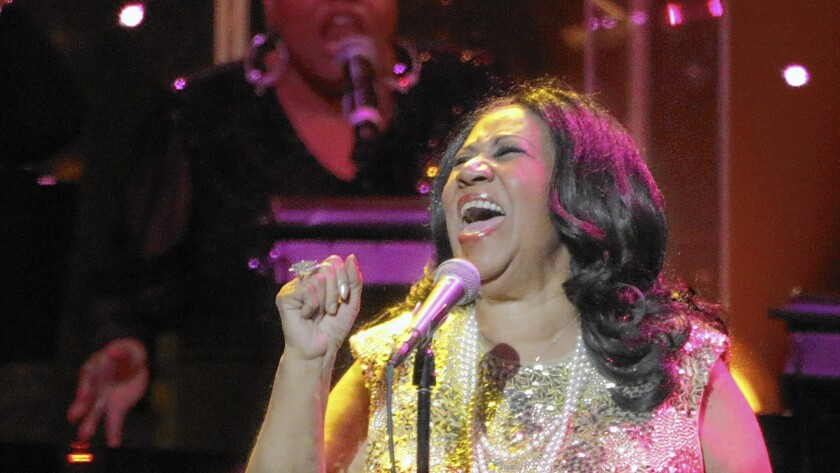 Review: Aretha Franklin, in top form, takes flight at Microsoft Theater