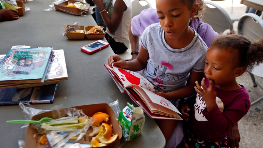 Summer lunch programs at the Inglewood Public Library.