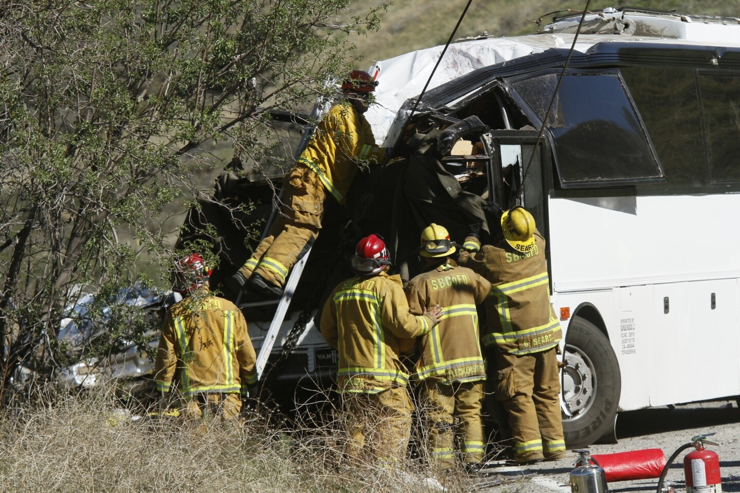 On Monday morning, investigation continues at the scene of the bus crash.
