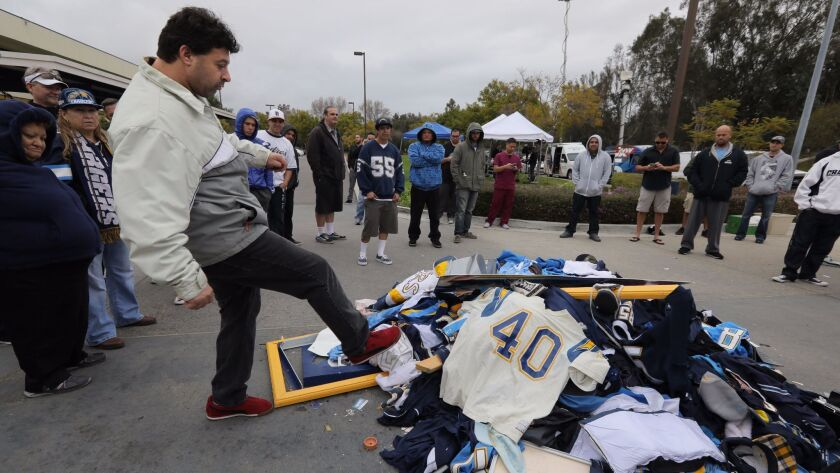 January 12, 2016_San Diego, California_USA_| At Chargers headquarters on Murphy Canyon Road angry Ch