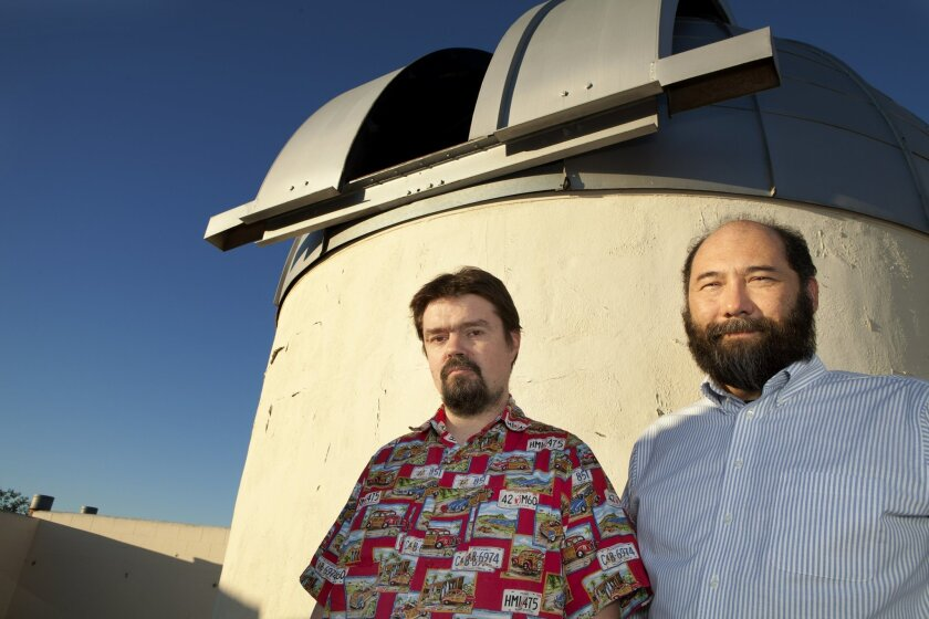 Jerome Orosz, left, and Dr. William Welsh have recently made discoveries of planets that have two suns.