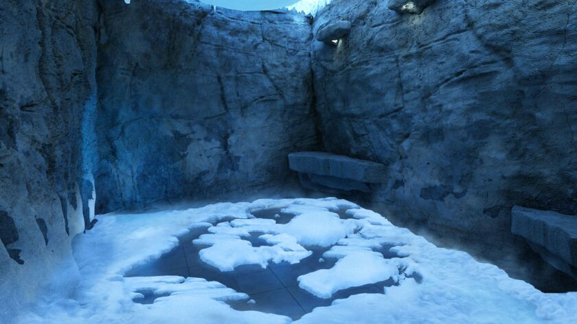The ultimate cool-down: The Norwegian Escape's Mandara Spa will feature a snow room for those who want an arctic blast to get their circulation going. (This is a rendering of the room.)