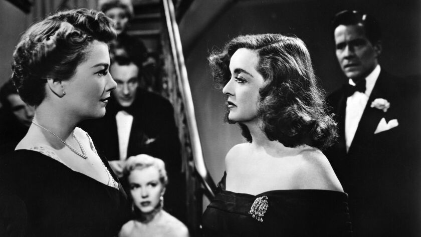 "Fasten your seatbelts... that's Bette Davis, center, in ""All About Eve."""