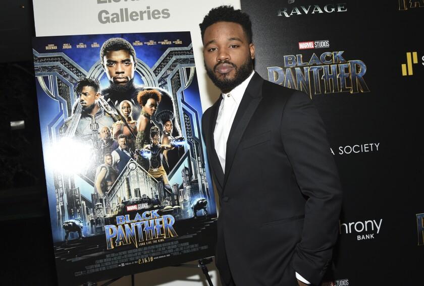 """El director Ryan Coogler durante uno de los eventos dedicados a la primera entrega de """"Black Panther""""."""