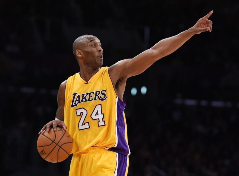 Lakers star Kobe Bryant.