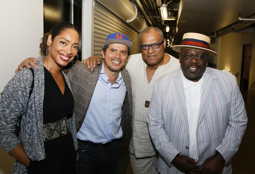 Actress Gina Torres, writer-actor-comedian John Leguizamo, actor Laurence Fishburne and actor Cedric the Entertainer