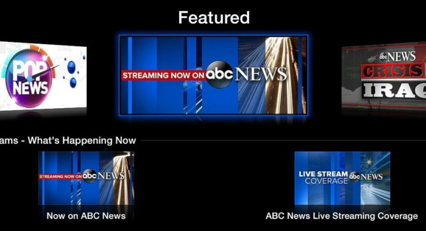ABC News has launched a streaming video app for Apple TV.