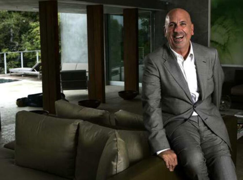 A CULTURAL BOND: Scott Stover, shown at his home in Beverly Hills, heads the Centre Pompidou Foundation.