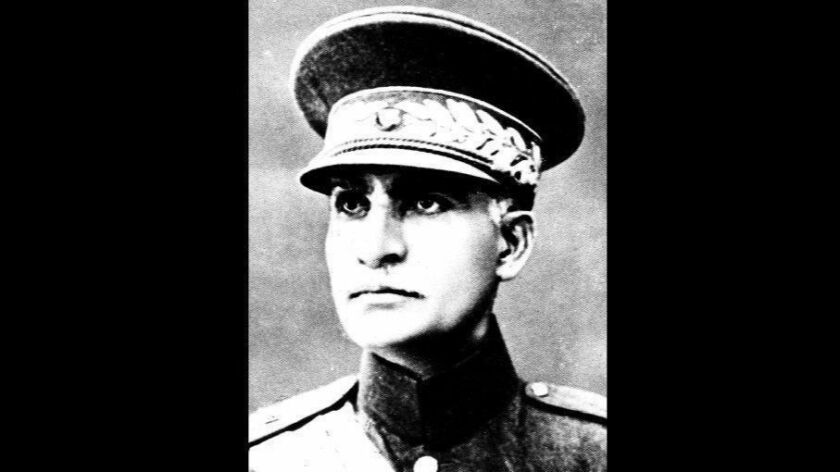 Reza Shah Pahlavi is shown in an undated photograph.