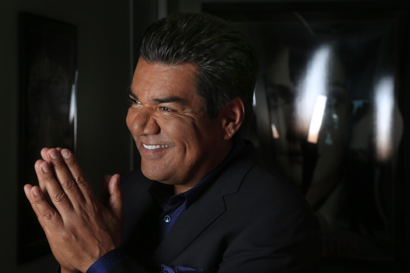 """George Lopez is seen at the Fox Studios offices. He has a new series with FX, """"Saint George."""""""
