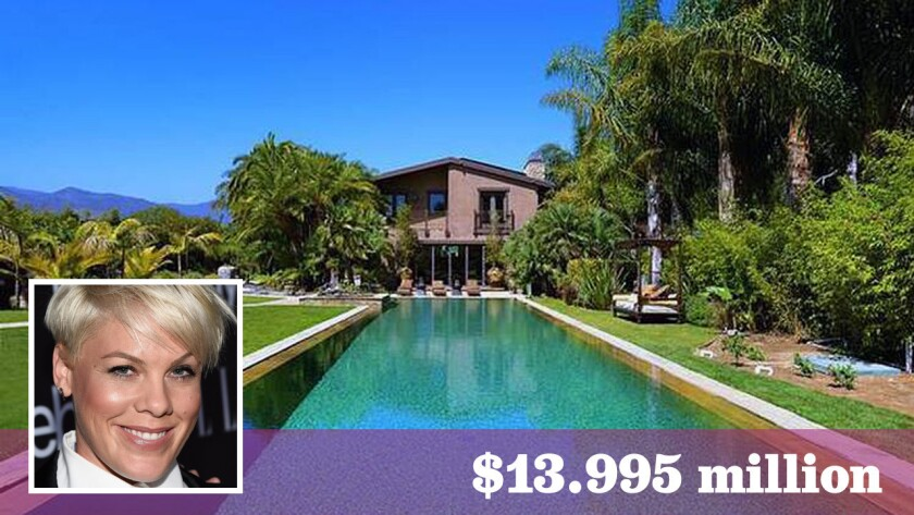 Grammy-winning singer Pink and husband Carey Hart have listed their Malibu home for $13.995 million.