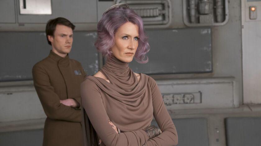 "Laura Dern as 'Vice Admiral Holdo in ""Starwars: The Last Jedi."" Credit: David James / Lucasfilm Ltd."