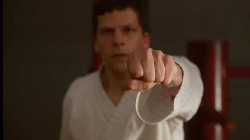 Review: 'The Art of Self-Defense' takes violent comic aim at toxic