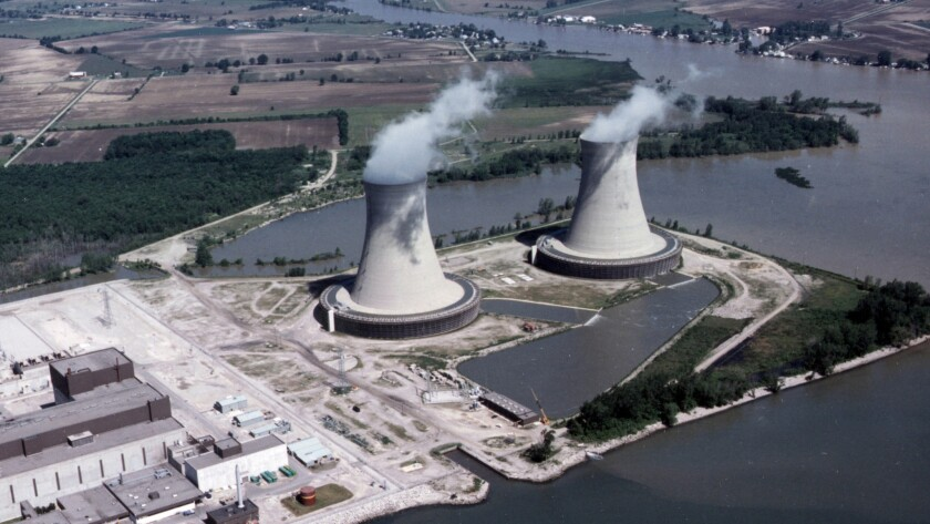 The Fermi-2 nuclear plant outside Detroit. Its predecessor suffered a meltdown in 1966, marring the nuclear industry's claim of safety.