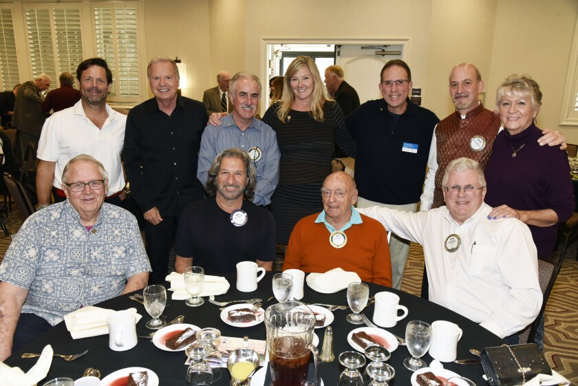 Encinitas Rotarians with President John Krassny (standing, third from right)