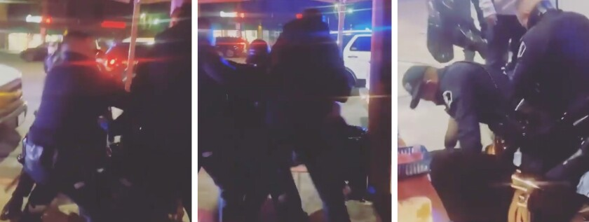 Two street food vendors were arrested in El Monte after a health code compliance check devolved into a brawl