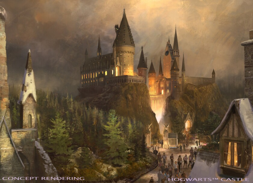Universal Studios Hollywood has unveiled details of its new Wizarding World of Harry Potter, set to open in spring 2016. The image is an artist rendering of Hogwart's Castle, a key feature in the new area.