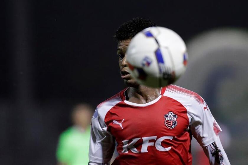 Edson Samms, jugador del San Francisco FC. EFE/Archivo