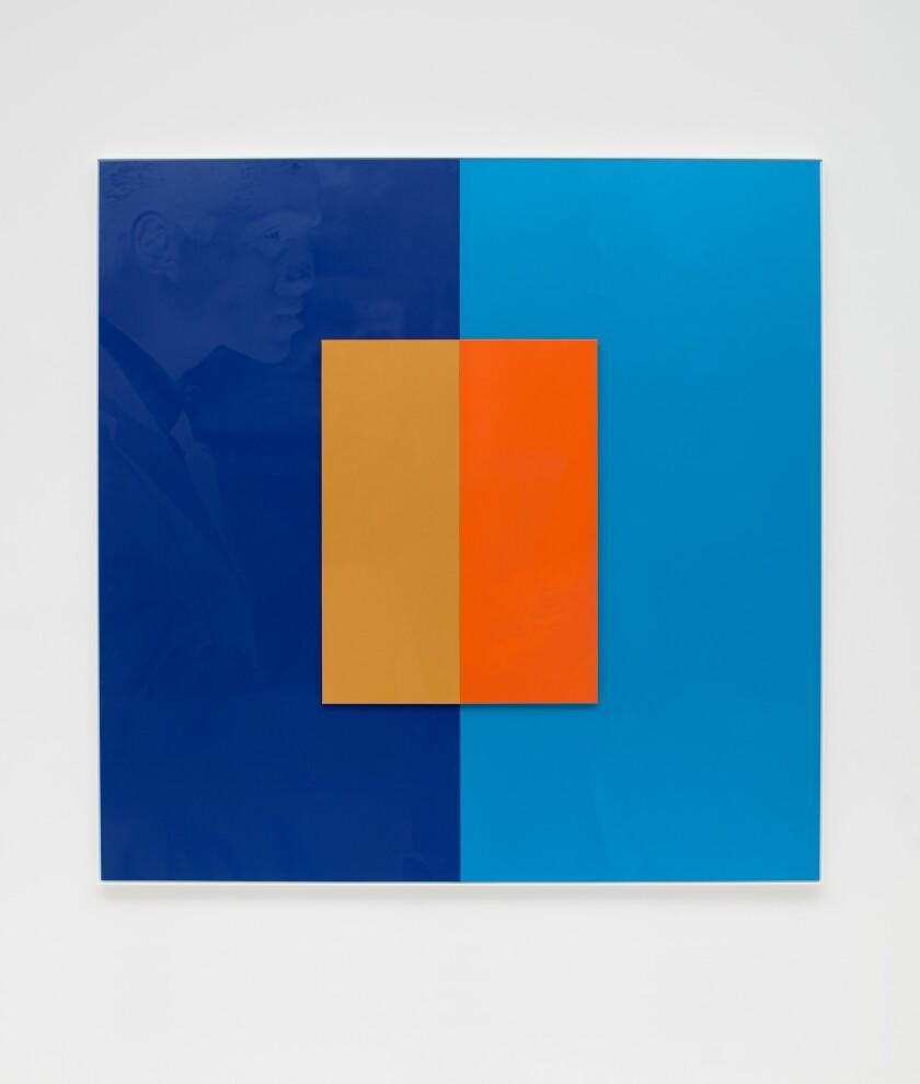 """'C'est si bon' (Le Harmonie del Colore)"" by Hank Willis Thomas, 2019. UV print on retroreflective vinyl, mounted on Dibond. Photographed without flash."
