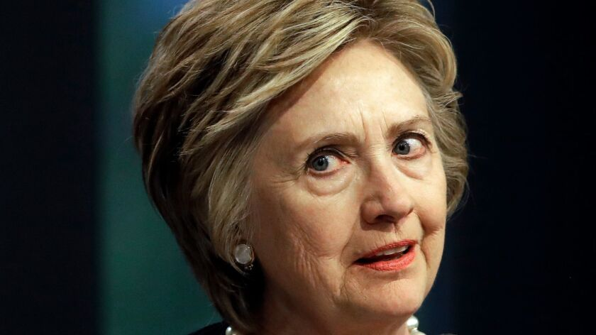Former Secretary of State Hillary Clinton speaks in Baltimore on June 5.
