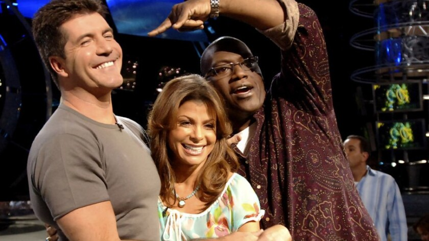 """Original """"American Idol"""" judges Simon Cowell, Paula Abdul and Randy Jackson. After 15 seasons on the air and in our lives, the singing competition series signed off for good this year. Or did it?"""