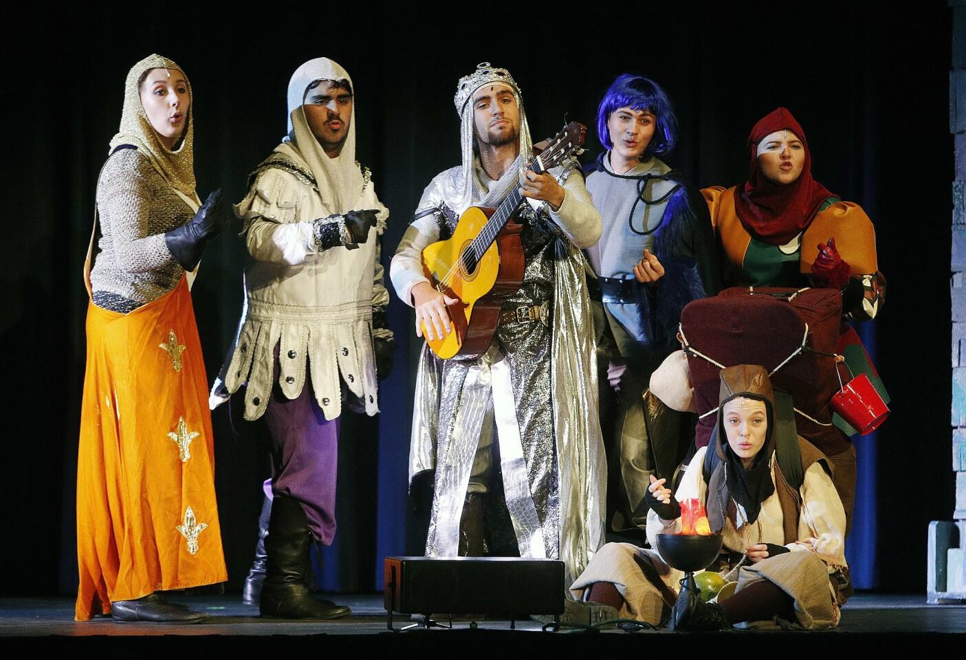 Photo Gallery: Burbank High School Drama Department dress rehearsal of Monty Python's Spamalot