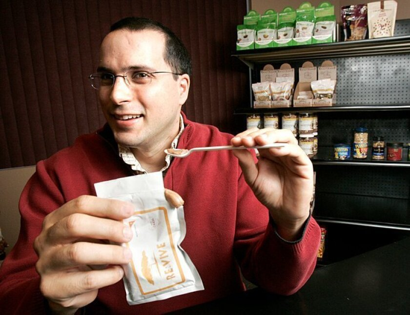 Mike Mellace, 35, of Carlsbad is hoping to make and sell a food paste for starving children.