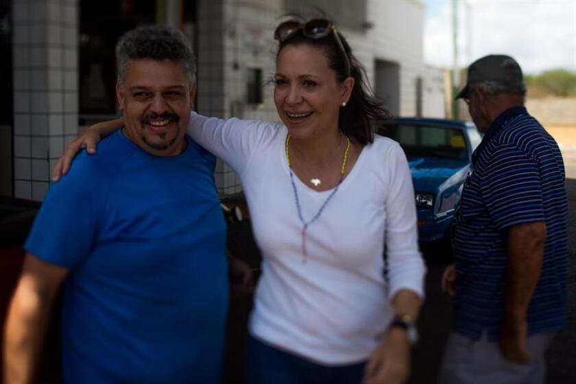 """El secretario general de la OEA, Luis Almagro, mostró hoy su """"profunda preocupación"""" por unas """"recientes amenazas"""" del Gobierno de Nicolás Maduro que habría sufrido la dirigente opositora venezolana María Corina Machado. EFE/ARCHIVO"""