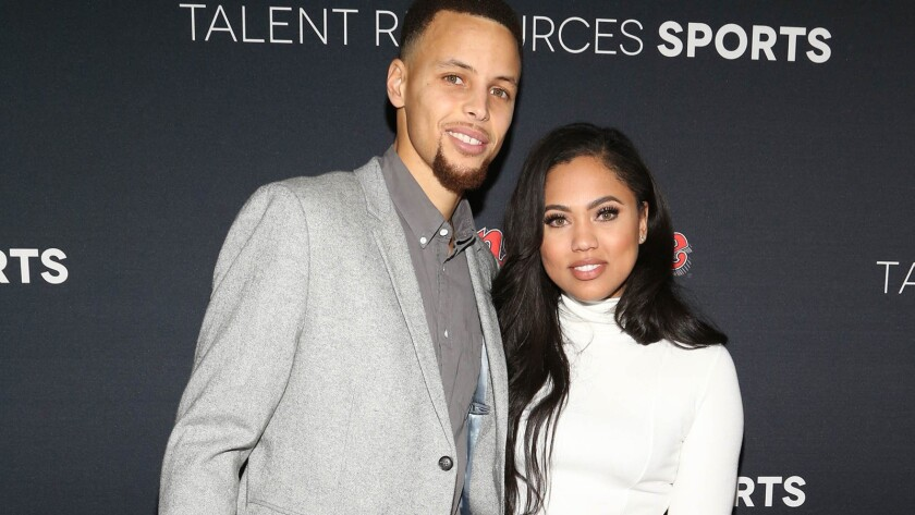 Ayesha Curry has landed her own Food Network show. Pictured is Ayesha with her husband, NBA star Stephen Curry.