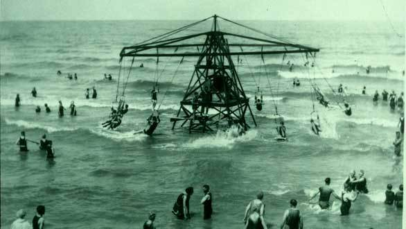 A water trapeze ride at Cedar Point, which dates to 1870 in Sandusky, Ohio.