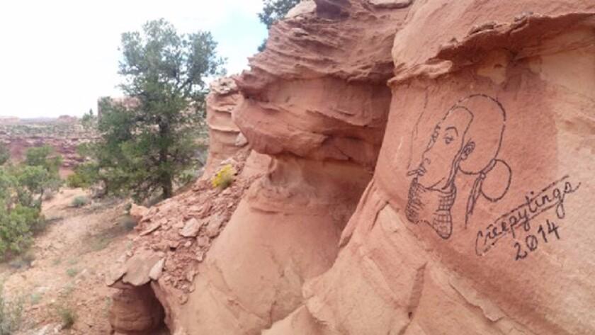 Graffiti at Canyonlands National Park