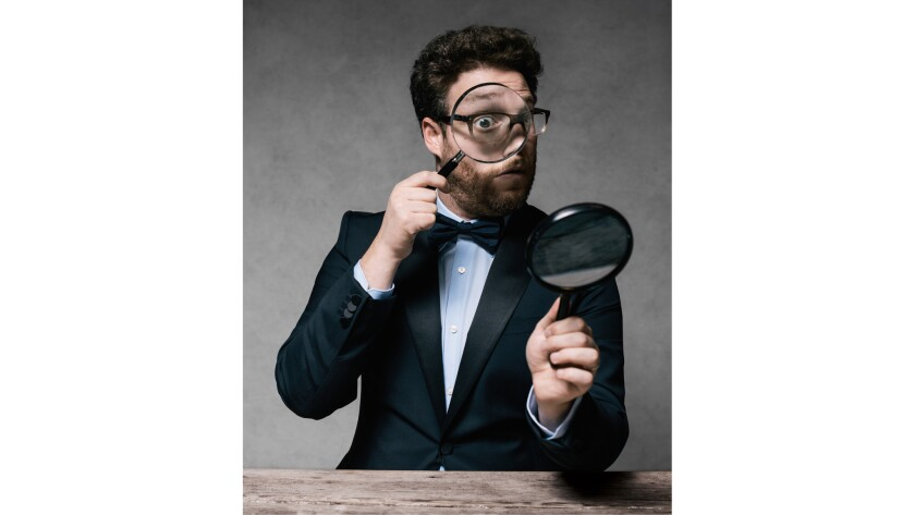 """Actor Seth Rogen in a photograph from Jeff Vespa's new coffee-table book """"The Art of Discovery."""""""