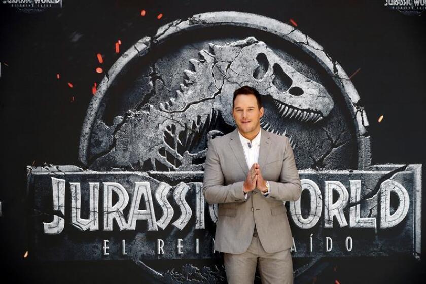 """El actor Chris Pratt, protagonista en el debut de Juan Antonio Bayona en la primera división de las superproducciones de Hollywood con """"Jurassic World: el reino caído"""". EFE/Archivo"""