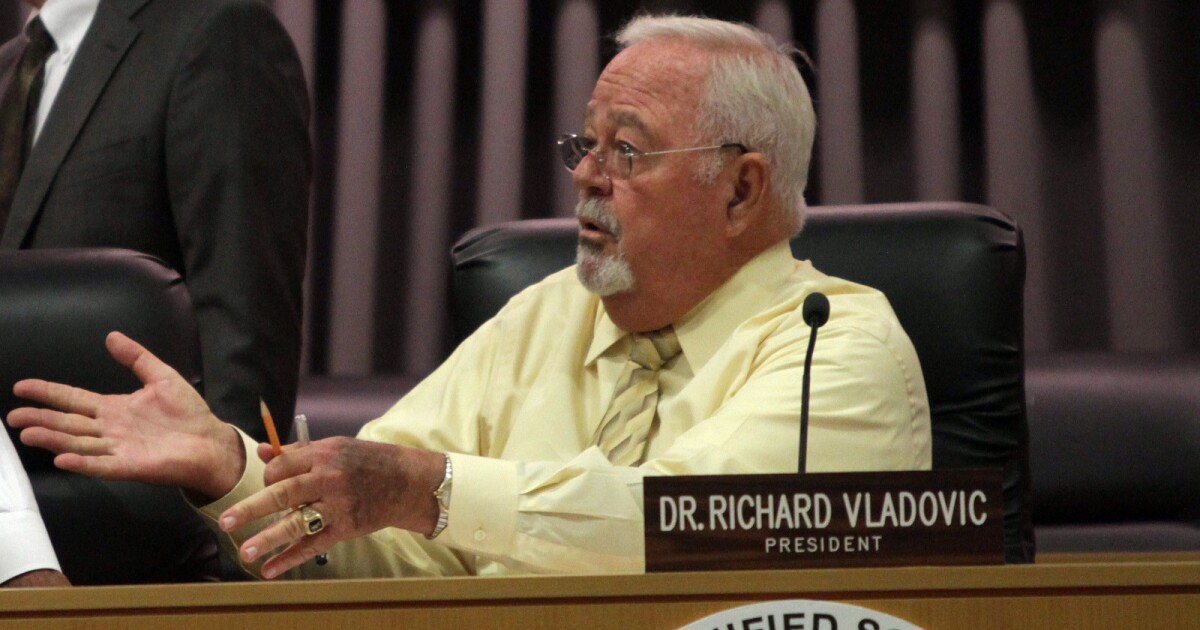 As decision looms on reopening schools, LAUSD sticks with four-time board president