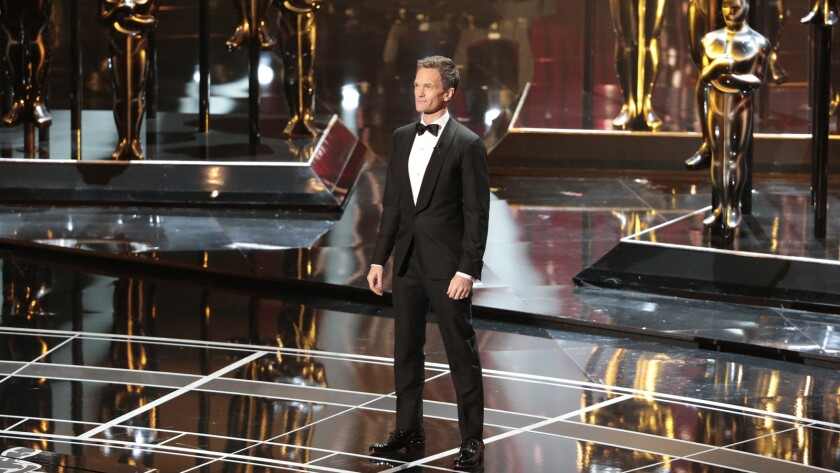 Neil Patrick Harris opens the telecast of the 87th Annual Academy Awards on Sunday at the Dolby Theatre in Hollywood.